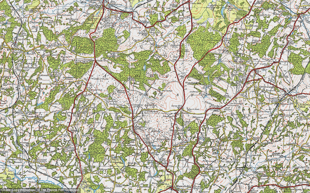 Old Map of Ashdown Forest, 1920 in 1920