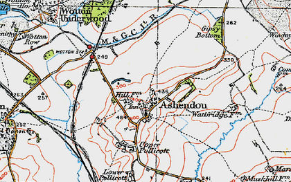 Old map of Ashendon in 1919