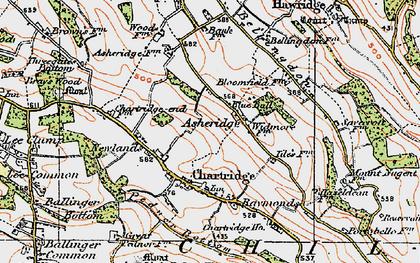 Old map of Asheridge in 1920