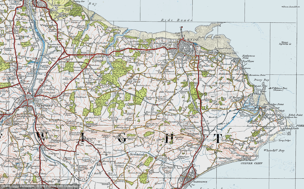 Old Map of Ashey, 1919 in 1919