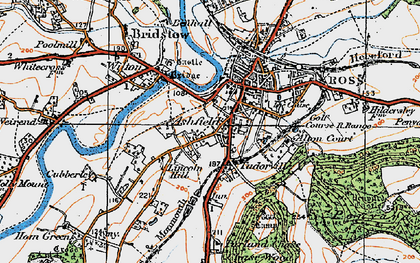 Old map of Ashfield in 1919
