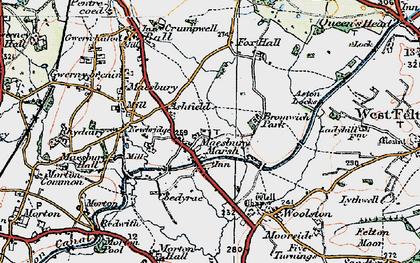 Old map of Ashfield in 1921