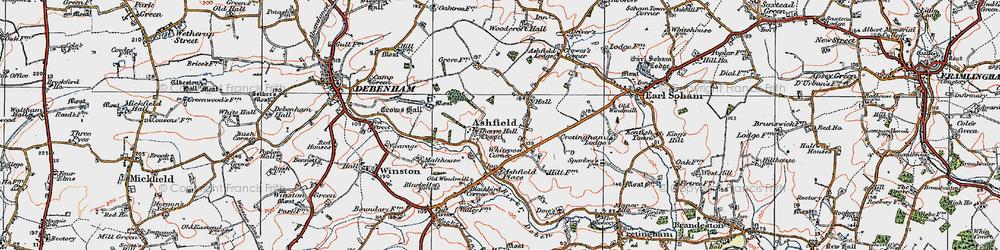Old map of Whitepost Corner in 1921