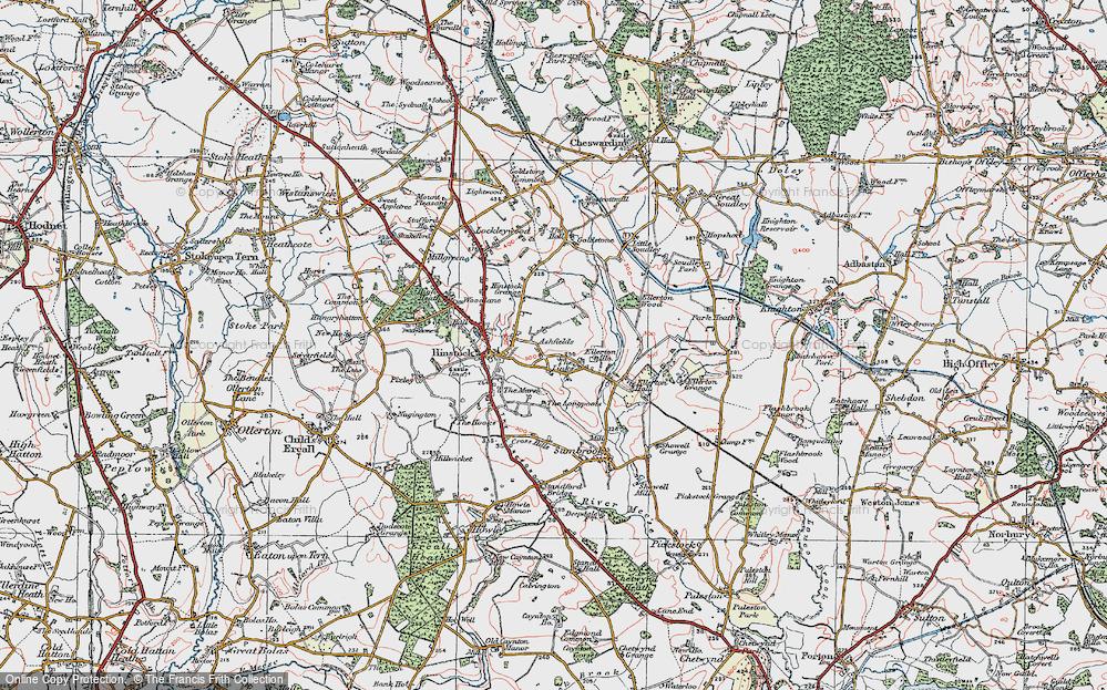 Old Map of Ashfields, 1921 in 1921