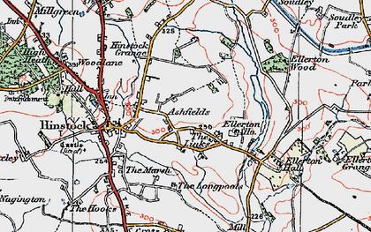 Old map of Ashfields in 1921