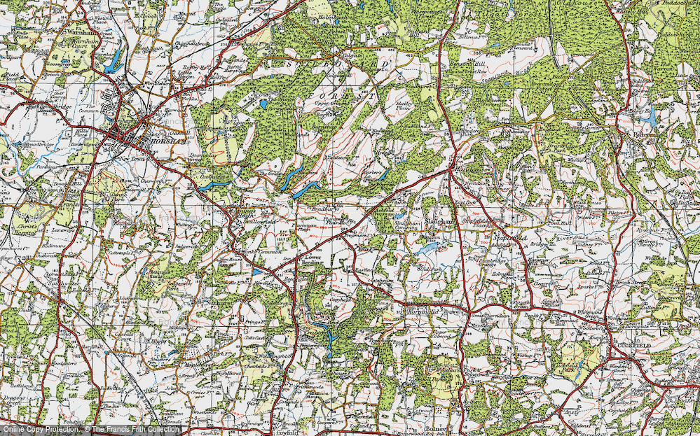 Old Map of Ashfold Crossways, 1920 in 1920