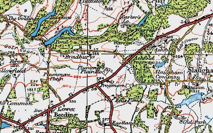 Old map of Ashfold Crossways in 1920