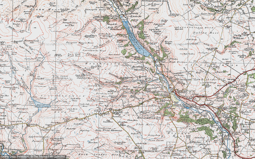 Old Map of Ashfold Side, 1925 in 1925