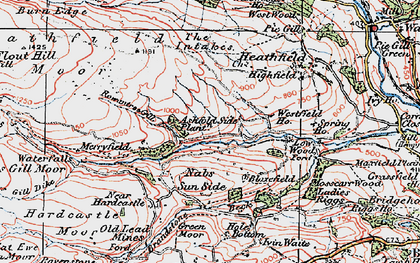 Old map of Ashfold Side in 1925