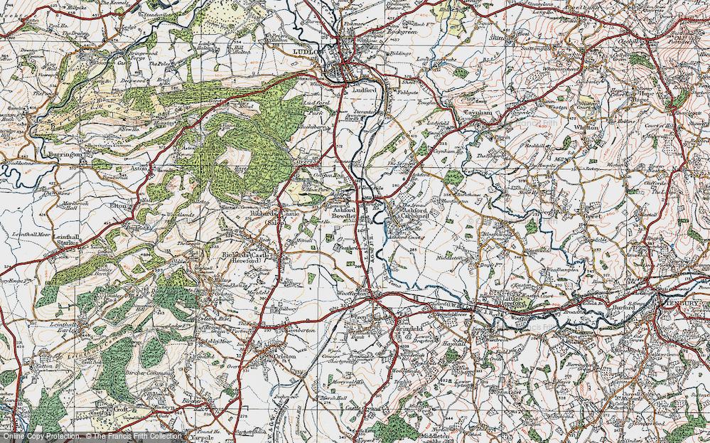 Old Map of Ashford Bowdler, 1920 in 1920