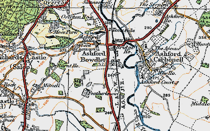 Old map of Wheat Common in 1920