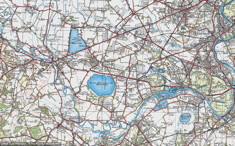 Old Map of Ashford Common, 1920 in 1920