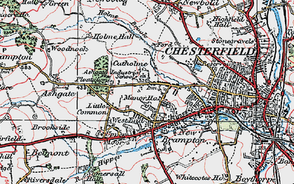 Old map of Ashgate in 1923