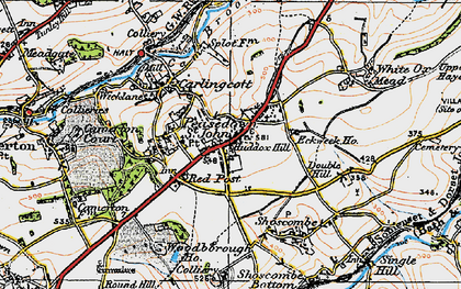 Old map of Ashgrove in 1919