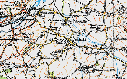 Old map of Ashill Moor in 1919