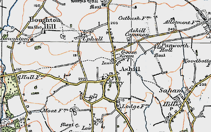 Old map of Ashill Common in 1921