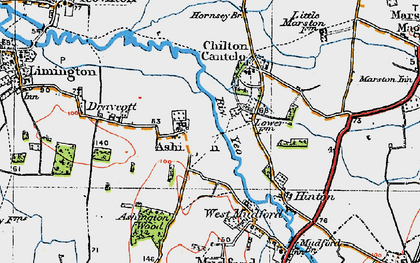 Old map of Ashington in 1919