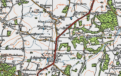 Old map of Ashington in 1920