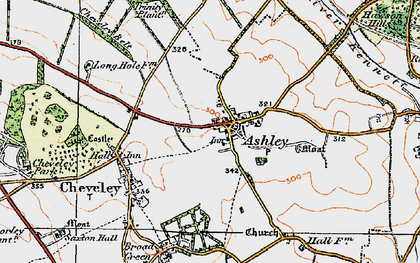 Old map of Ashley in 1920