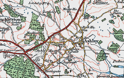 Old map of Ashley Dale in 1921