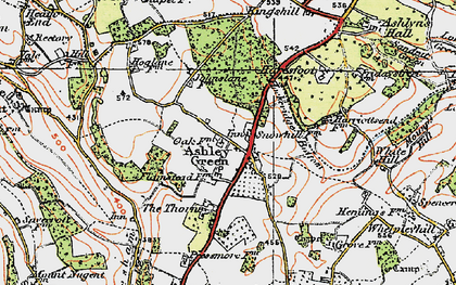 Old map of Ashley Green in 1920