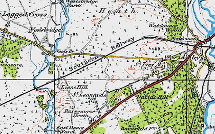 Old map of Wools Br in 1919