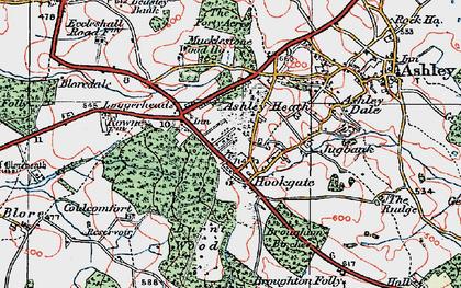 Old map of Ashley Heath in 1921
