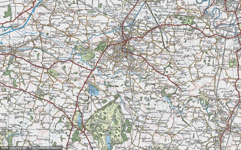 Old Map of Ashley Heath, 1923 in 1923