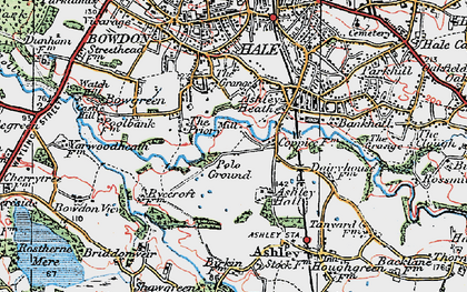 Old map of Ashley Heath in 1923