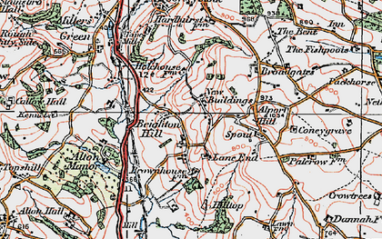Old map of Lane End in 1921