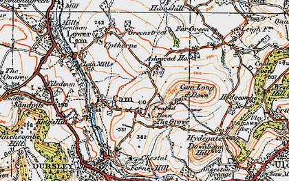 Old map of Ashmead Green in 1919