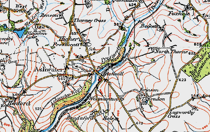 Old map of Ashmill in 1919