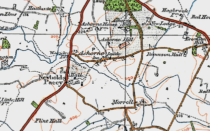 Old map of Ashorne Hill College in 1919