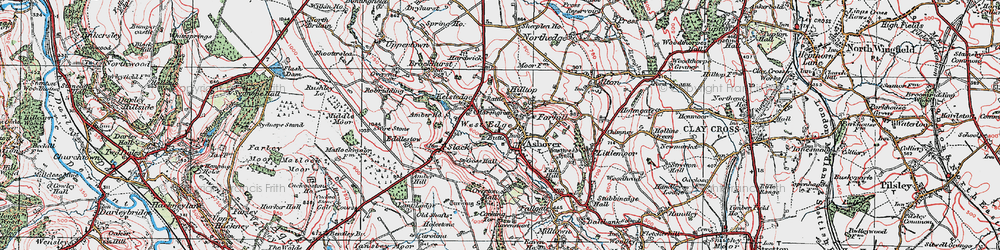 Old map of Ashover in 1923