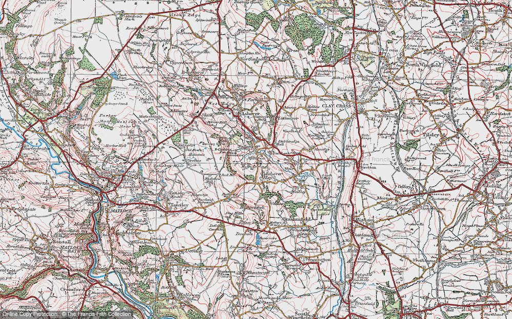 Old Map of Ashover Hay, 1923 in 1923