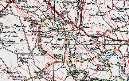 Old map of Ashover Hay in 1923