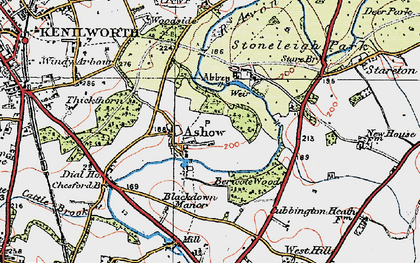 Old map of Ashow in 1919