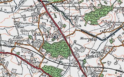 Old map of Ashperton in 1920