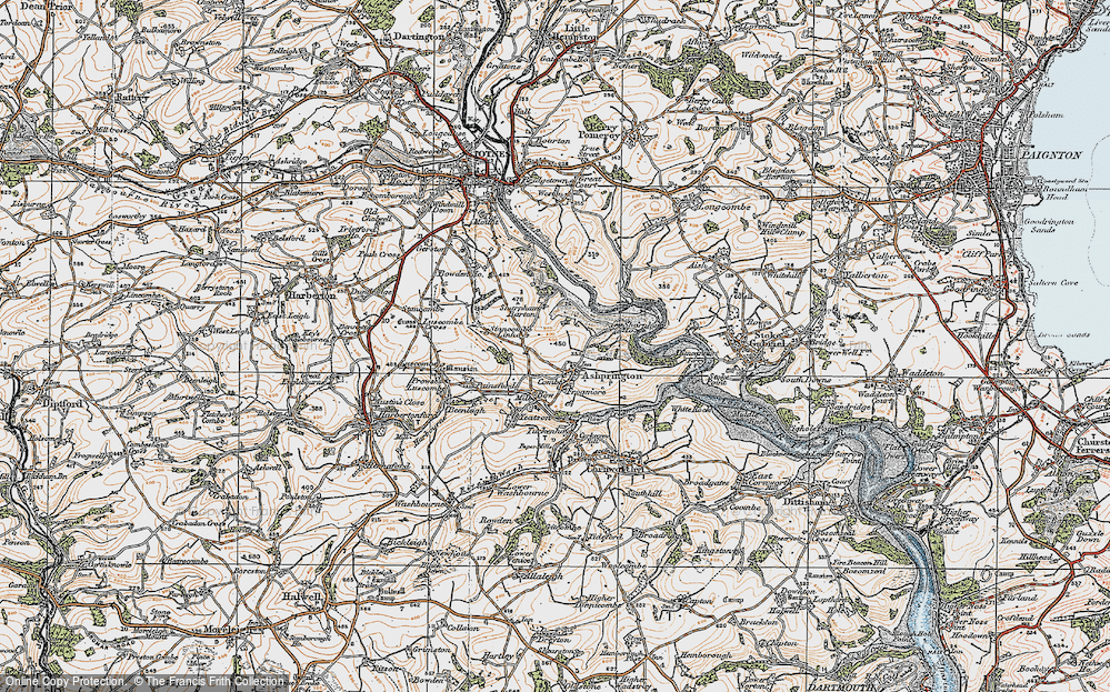 Old Map of Ashprington, 1919 in 1919