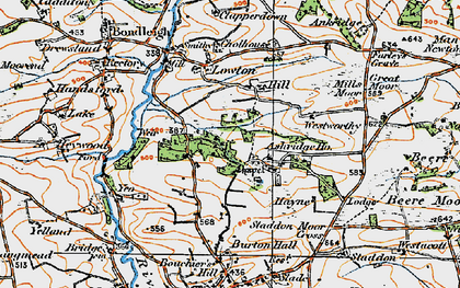 Old map of Ashridge Court in 1919
