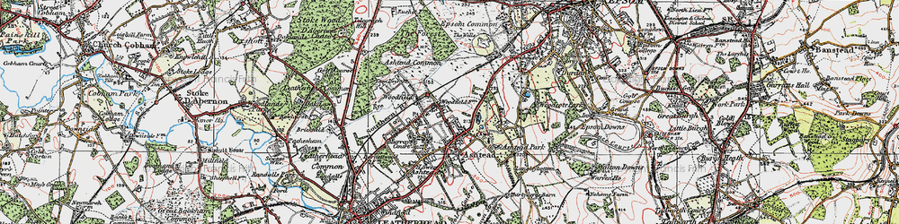 Old map of Ashtead in 1920
