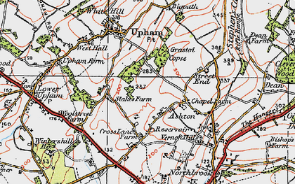 Old map of Ashton in 1919