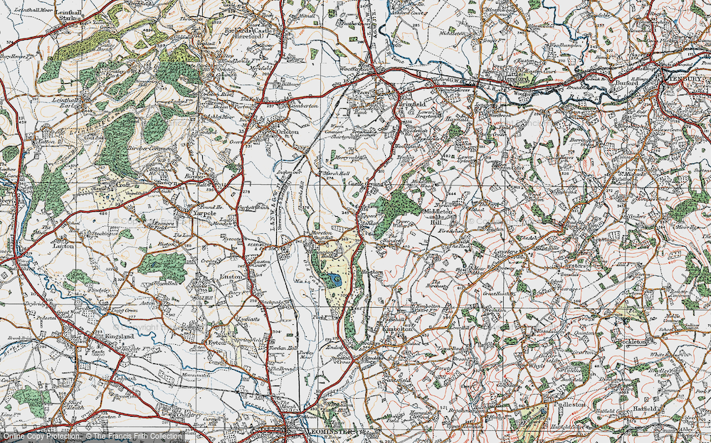 Old Map of Ashton, 1920 in 1920