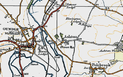 Old map of Ashton in 1920