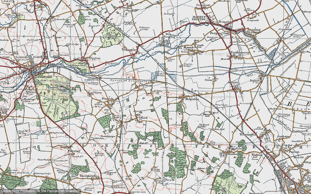 Old Map of Ashton, 1922 in 1922