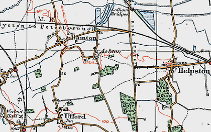 Old map of Ashton in 1922