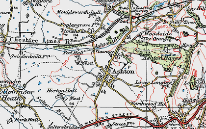 Old map of Ashton Brook in 1923