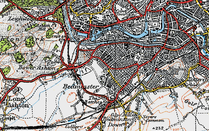Old map of Ashton Gate in 1919