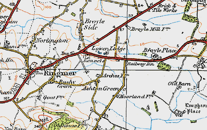 Old map of Ashton Green in 1920