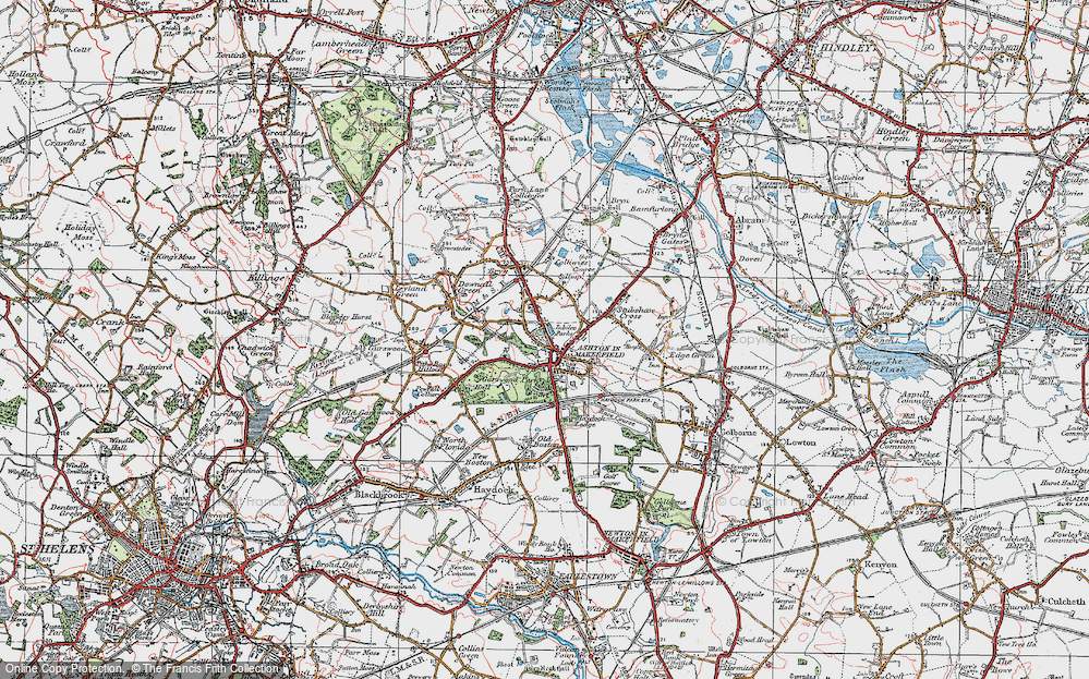 Old Map of Ashton-in-Makerfield, 1924 in 1924